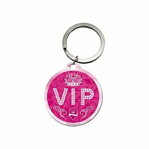 Nostalgic Art Key Chain Round 1 5/8in Vip Pink Very Important People