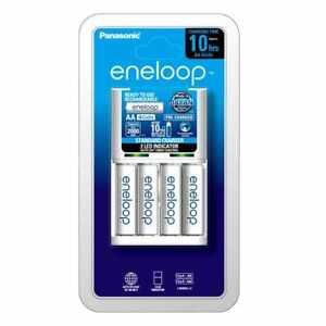 New Eneloop Basic Charger + 4 xAA NIMH Batteries