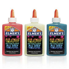 Elmer's 3-PACK GLOW IN THE DARK LIQUID GLUE NATURAL, BLUE, PINK GREAT FOR SLIME