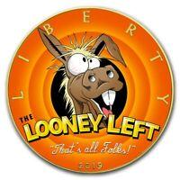 USA LOONEY LEFT American Silver Eagle 2019 Walking Liberty $1 Dollar Coin 1 oz