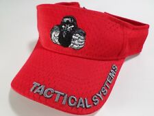 Florida Bullet Tactical Systems Sun Visor Hat Cap Skeleton Soldier Gun Red