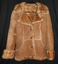 Vtg Women's Shearling Coat Rancher Marlboro Woman 10