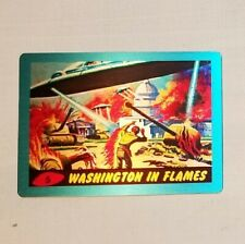 Topps Mars Attacks! Occupation 2015 Metal Chase set #MM-5 Washington In Flames