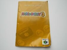 Mario Party 3 Nintendo 64 N64 Video Game Manual Instruction Booklet OEM Official