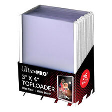 """Ultra Pro 3"""" x 4"""" Top Loader Card Protectors with White Border - Packet of 25"""