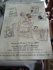 Dessin Original , à l'encre  signé Wolinski  40 X 60 cm