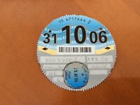 TAX DISC - OLD  VEHICLE LICENSE -
