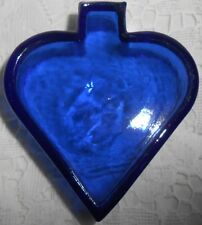Blue Vaseline Uranium glass spade salt dip cellar poker card Cobalt casino celt