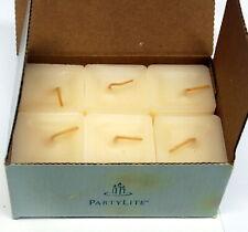 Partylite 6 Scent plus square votive candles K0211 in Vanilla/Ivory