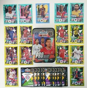 2020/21 Match Attax UEFA - ProSelect Mega Tin + 100 cards (20 shiny inc 100 club