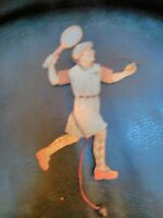 Vintage Wood Tennis Player Pull String Toy Puppet Christmas Ornament/Decor