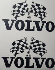 VOLVO CHEQUERED FLAG LOGO PISTON X2 DECAL FH FM GLOBETROTER HAULAGE LORRY TRUCK