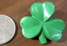 1988 Hallmark Saint Patrick Green Shamrock Lucky Clover Lapel Pin Brooch Plastic