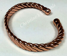 MAGNETIC Solid Copper HEAVY - TWISTED ROPE Bracelet Arthritis Pain Relief (M23)