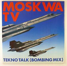 """12"""" Maxi - Moskwa TV - Tekno Talk (Bombing Mix) - B1784 - washed & cleaned"""