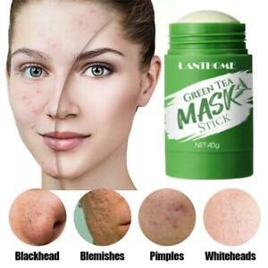 40g grüner Maskenstift Tiefenreinigende Haut Aubergine Grüntee Detox Stick C5D1