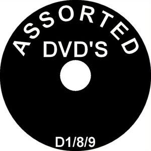 Mixed DVD Assortment * FREE POSTAGE * alphabetical drop down menu * CCD1/8/9