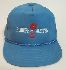 Rudolph And Sletten Truckers Hat Snap Back Ball Cap Blue Red White