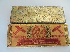 7820 Dresdner Zigarettenpapier 25 Jahre 1910-1935 Blechdose Sport Casino Flieger