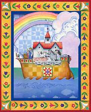 Noah's Ark Fabric Animals Religious Jim Shore Ark Boat CP61507 ~ Wall Panel
