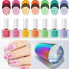 7 Bottles BORN PRETTY Colorful Stamping Polish Set with Nail Holographic Stamper