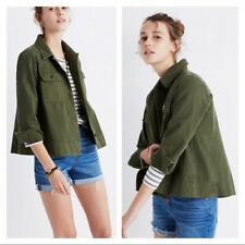 Madewell Northward Cropped Army Jacket Green New S $128