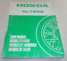 Officina manuale Workshop Manual Honda XL 125 S Stand 1978