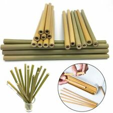 Reusable Drinking Bamboo Straw Eco Friendly Natural Wood Bar Tool Organic 1PC