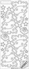 Stickerbogen, Weihnachten, Weihnachtsbaum, Glitzer Weiß/Transparent Nr. 3216