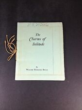 """The Charms Of Solitude Vintage Poem Book By William Hershell Bruce """"Super Rare"""""""