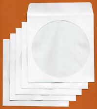 CD/DVD PAPER WINDOW - HIGH QUALITY PROTECTIVE SLEEVES TAB STYLE (pack of 100)