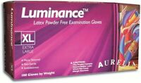 Supermax 29885 Aurelia Luminance Powder Free Latex Exam Gloves X-Small 100/Bx