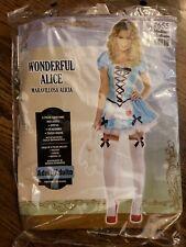 Alice in Wonderland Costume Sexy Adult Halloween Fancy Dress Medium