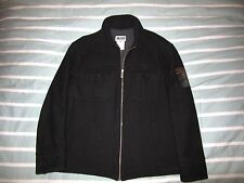 Dolce Gabbana J&Ans Wool Black Jacket Cruiser Coat Made Italy Men's XL to XXL