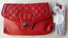 NEW Grace Adele TATE Scarlet Clutch Purse Bag 22 inch detachable strap HTF