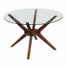 NEW 120cm Walnut Banza Round Dining Table - Oslo Home,Dining Tables
