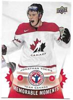 2015 Upper Deck National Hockey Card Day Canada JONATHAN TOEWS Memorable Moments