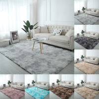 Fluffy Rugs Anti-Skid Shaggy Area Rug Dining Room Carpet Floor Mat Home BedrPYW