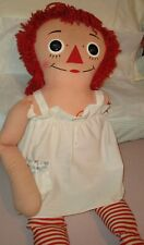 "Vintage Knickerbocker 36"" RAGGEDY ANN Annabel Large Doll with Apron"
