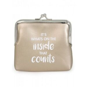 It's Whats on the inside that counts - Gold Coin Purse