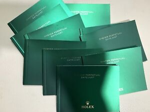 Authentic ROLEX DATEJUST OWNERS MANUAL BOOKLET ENGLISH LOT OF 10