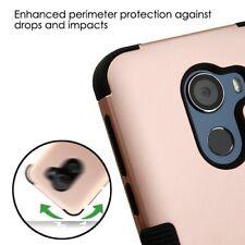 Rose Gold Black Case + Glass Sp For Alcatel T-Mobile Revvl /Revvl 5049W/ Walters