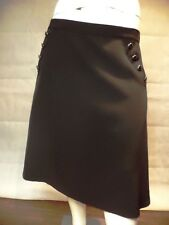 ELOQUII A Line Skirt Plus Size 18 Black Metallic Buttons Cute NWT