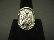 Size 12 Harley Davidson Style Eagle Bikers Sterling Silver Custom Made Navajo