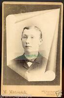 Cabinet Photo - Chicago, Illinois - Memorial Type, Young Man, Matousek Studio