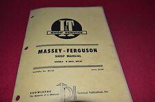 Massey Ferguson 25 130 Tractor I&T Shop Manual CHPA