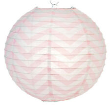 14'' Chinese Japanese Paper Lantern Pink Chevron Home Wedding Party Decor NEW
