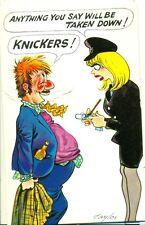 POSTCARD COMIC BAMFORTH COMIC Series No 18 POLICEWOMAN KNICKERS