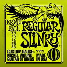 6 X ERNIE BALL REGULAR SLINKY ELECTRIC GUITAR STRINGS 10's 6 sets