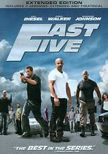{New Sealed} The Fast & the Furious Fast Five Extended Edition WideScreen Dvd